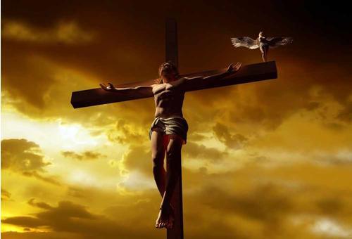 crucifix and dove