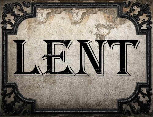February 2017: Recommended Lenten Penances